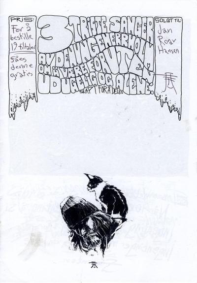 Cover for 3 triste sanger av den unge Herr Holm om å være foruten, udugelig og alene (Kim Holm (eget forlag), 2010 series)