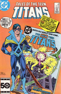 Cover Thumbnail for Tales of the Teen Titans (DC, 1984 series) #59 [Direct]