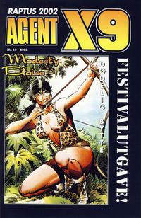 Cover Thumbnail for Agent X9 Raptus 2002 festivalutgave (Hjemmet / Egmont, 2002 series) #10/2002