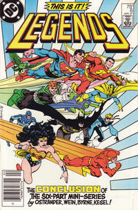 Cover Thumbnail for Legends (DC, 1986 series) #6 [Newsstand]