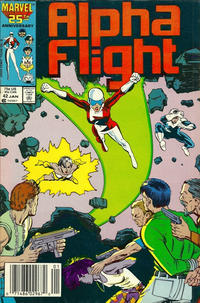 Cover Thumbnail for Alpha Flight (Marvel, 1983 series) #42 [Newsstand Edition]