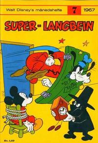 Cover Thumbnail for Walt Disney's månedshefte (Hjemmet / Egmont, 1967 series) #7/1967
