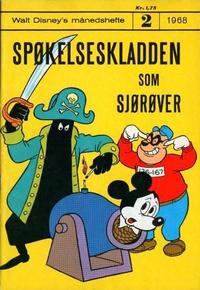 Cover Thumbnail for Walt Disney's Månedshefte (Hjemmet / Egmont, 1967 series) #2/1968