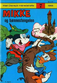 Cover Thumbnail for Walt Disney's Månedshefte (Hjemmet / Egmont, 1967 series) #7/1968
