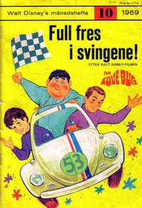 Cover Thumbnail for Walt Disney's Månedshefte (Hjemmet / Egmont, 1967 series) #10/1969