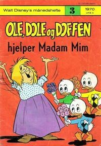 Cover Thumbnail for Walt Disney's Månedshefte (Hjemmet / Egmont, 1967 series) #3/1970