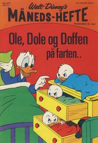 Cover Thumbnail for Walt Disney's Månedshefte (Hjemmet / Egmont, 1967 series) #8/1970