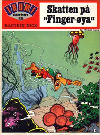 """Cover Thumbnail for Trumf-serien (Forlaget For Alle A/S, 1973 series) #12 - Kaptein Nick - Skatten på """"Finger-øya"""""""