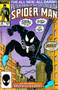 Cover Thumbnail for The Spectacular Spider-Man (Marvel, 1976 series) #107 [direct]