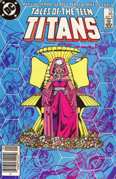 Cover for Tales of the Teen Titans (DC, 1984 series) #46 [Newsstand]