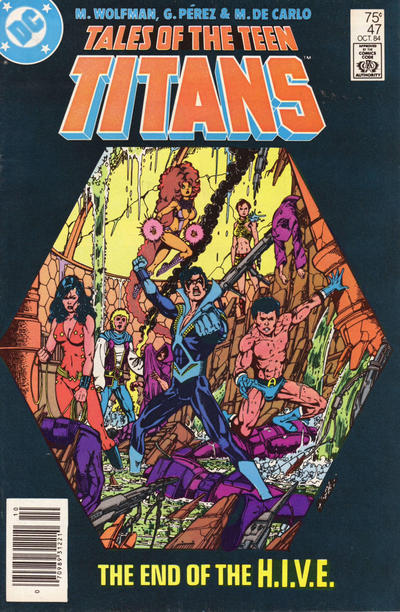 Cover for Tales of the Teen Titans (DC, 1984 series) #47 [Newsstand]