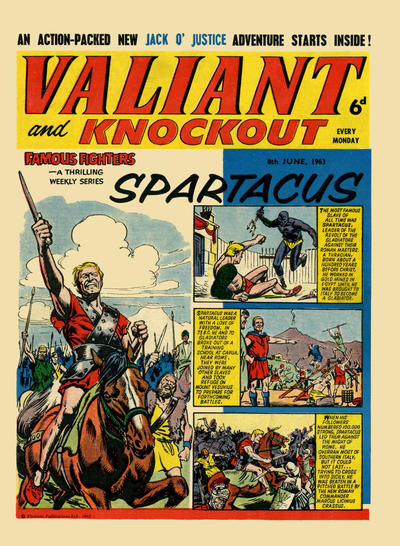 Cover for Valiant and Knockout (IPC, 1963 series) #8 June 1963