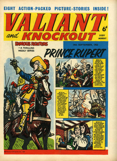 Cover for Valiant and Knockout (IPC, 1963 series) #14 September 1963