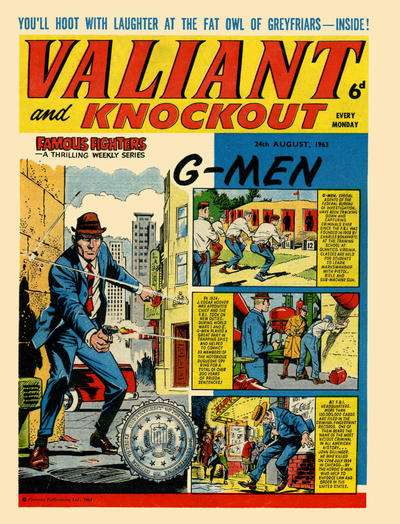 Cover for Valiant and Knockout (IPC, 1963 series) #24 August 1963