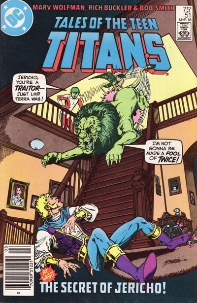 Cover for Tales of the Teen Titans (DC, 1984 series) #51 [Newsstand]