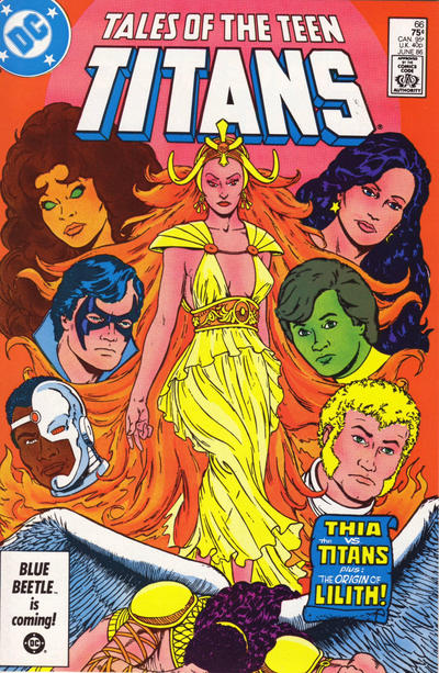 Cover for Tales of the Teen Titans (DC, 1984 series) #66 [Newsstand]