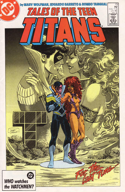 Cover for Tales of the Teen Titans (DC, 1984 series) #73 [Newsstand]