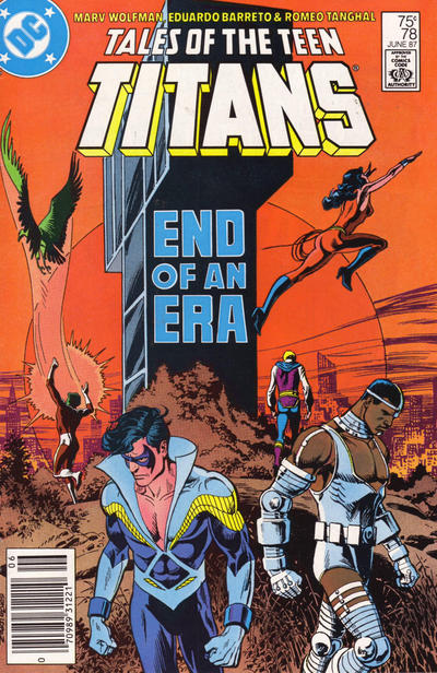 Cover for Tales of the Teen Titans (DC, 1984 series) #78 [Newsstand]