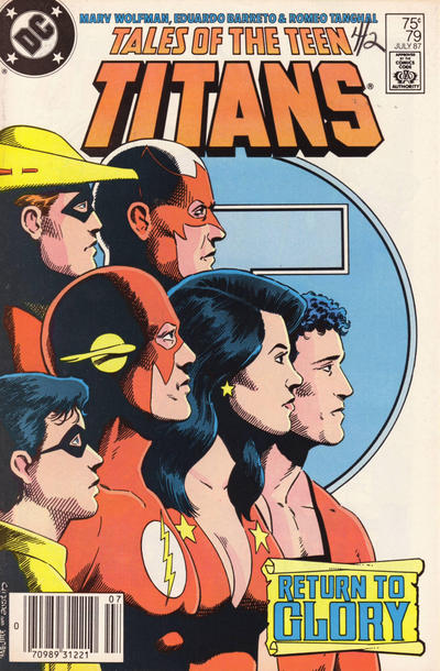 Cover for Tales of the Teen Titans (DC, 1984 series) #79 [Newsstand]