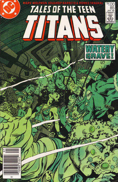 Cover for Tales of the Teen Titans (DC, 1984 series) #85 [Newsstand]