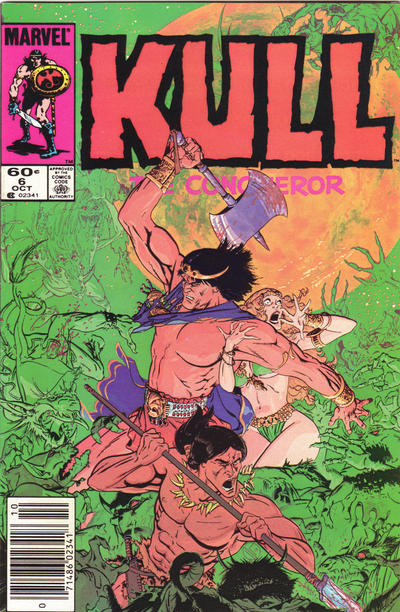 Cover for Kull the Conqueror (Marvel, 1983 series) #6 [Newsstand Edition]