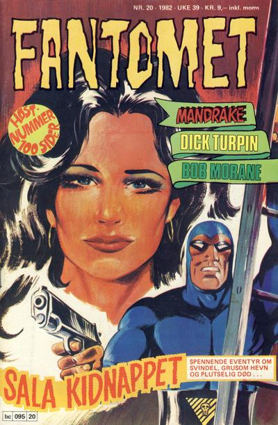 Cover for Fantomet (Semic, 1976 series) #20/1982