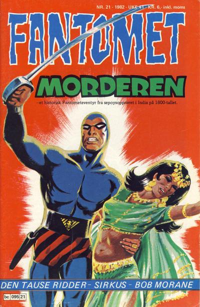 Cover for Fantomet (Semic, 1976 series) #21/1982