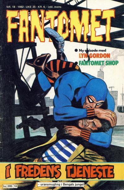 Cover for Fantomet (Semic, 1976 series) #18/1982