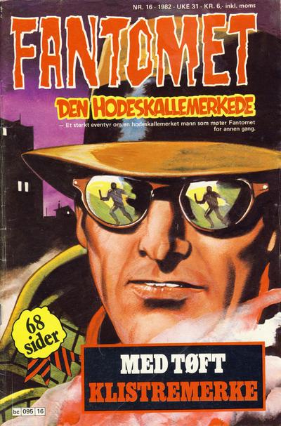 Cover for Fantomet (Semic, 1976 series) #16/1982