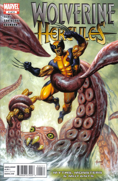 Cover for Wolverine / Hercules: Myths, Monsters & Mutants (Marvel, 2011 series) #4