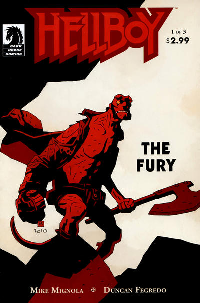 Cover for Hellboy: The Fury (Dark Horse, 2011 series) #1 [55] [Francavilla cover]