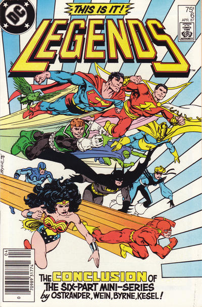 Cover for Legends (DC, 1986 series) #6 [Direct]