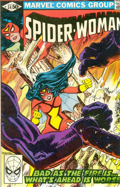 Cover for Spider-Woman (Marvel, 1978 series) #34 [Direct Edition]