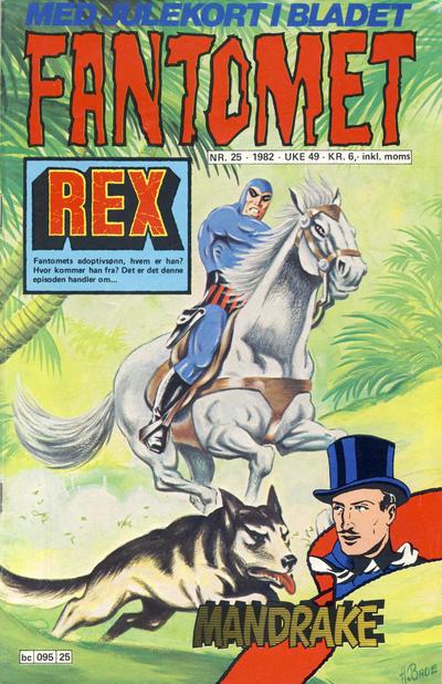Cover for Fantomet (Semic, 1976 series) #25/1982