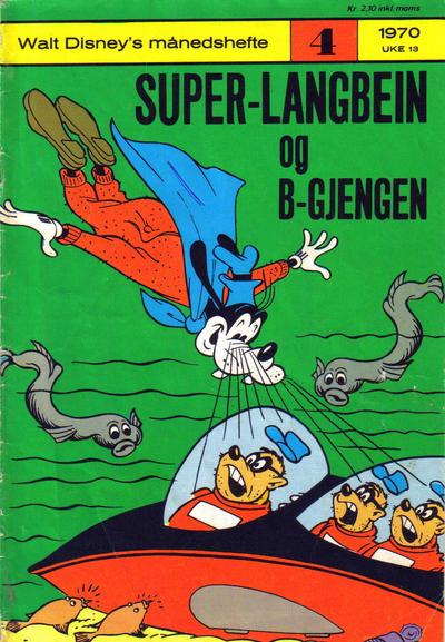 Cover for Walt Disney's Månedshefte (Hjemmet / Egmont, 1967 series) #4/1970
