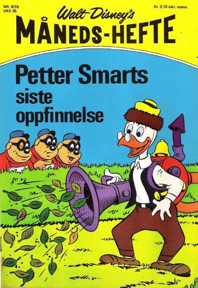 Cover for Walt Disney's Månedshefte (Hjemmet / Egmont, 1967 series) #9/1970