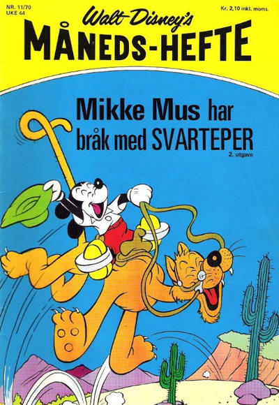 Cover for Walt Disney's Månedshefte (Hjemmet / Egmont, 1967 series) #11/1970