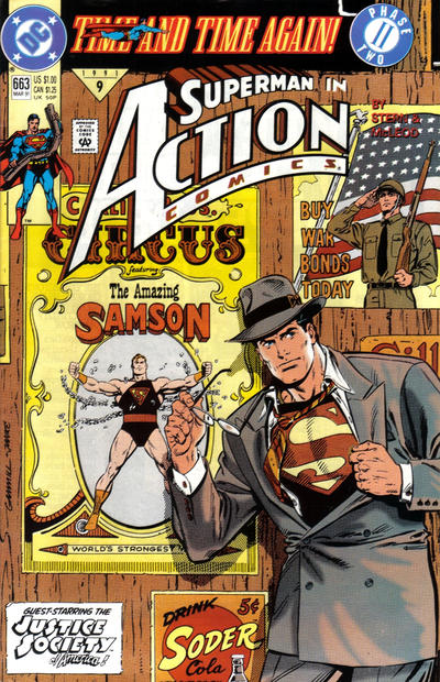 Cover for Action Comics (DC, 1938 series) #663 [Direct]