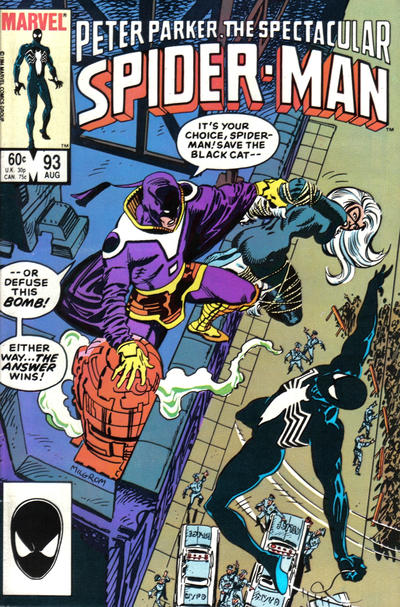 Cover for The Spectacular Spider-Man (Marvel, 1976 series) #93 [Newsstand Edition]