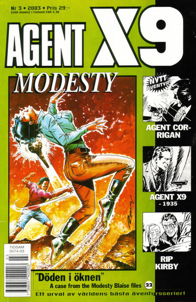 Cover for Agent X9 (Egmont, 1997 series) #3/2003