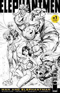 Cover Thumbnail for Elephantmen: Man and Elephantman (Image, 2011 series) #1