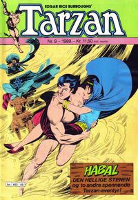 Cover Thumbnail for Tarzan (Bladkompaniet / Schibsted, 1989 series) #9/1989