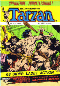 Cover Thumbnail for Tarzan (Bladkompaniet / Schibsted, 1989 series) #11/1989