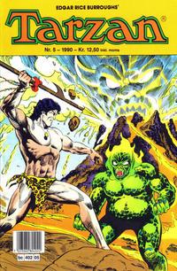Cover Thumbnail for Tarzan (Bladkompaniet / Schibsted, 1989 series) #5/1990
