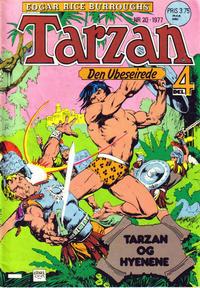 Cover Thumbnail for Tarzan (Atlantic Forlag, 1977 series) #20/1977