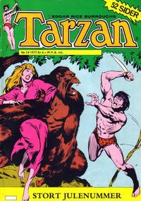 Cover Thumbnail for Tarzan (Atlantic Forlag, 1977 series) #24/1977