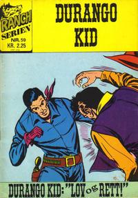Cover Thumbnail for Ranchserien (Illustrerte Klassikere / Williams Forlag, 1968 series) #59