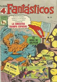 Cover Thumbnail for Los 4 Fantásticos (Editora de Periódicos La Prensa S.C.L., 1962 series) #64