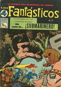 Cover Thumbnail for Los 4 Fantásticos (Editora de Periódicos La Prensa S.C.L., 1962 series) #52