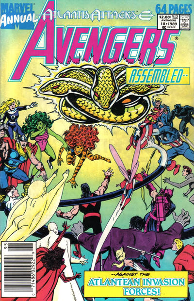Cover for The Avengers Annual (Marvel, 1967 series) #18 [Direct Edition]